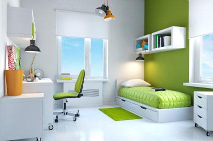 Photos chambres - Chambre verte et blanche ...