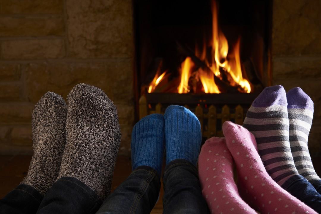 pieds chauffant