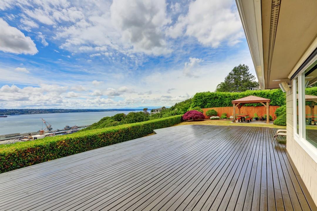 terrasse bois mer
